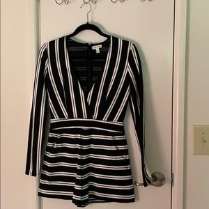 Black and white striped urban outfitters romper